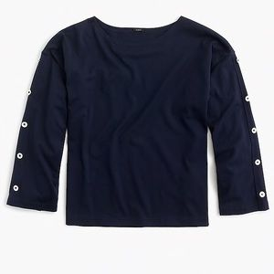 J. crew women's button sleeve t-shirt